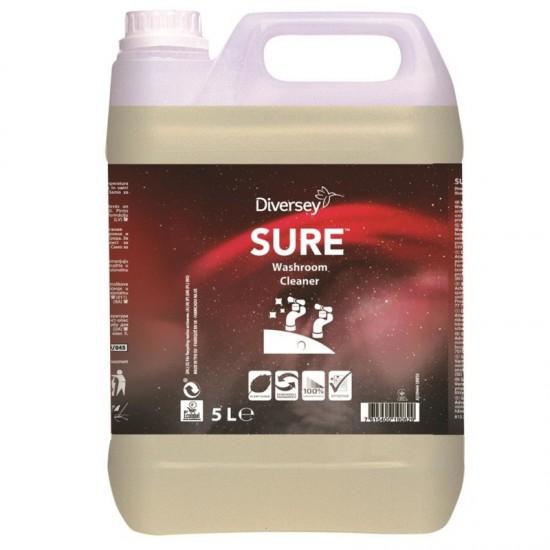 DETERGENTE BAÑOS SURE WASHROOM CLEANER 5L (CAJA 2 GARRAFAS)