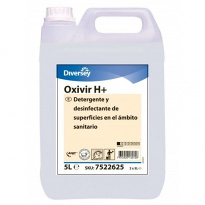 DETERGENTE Y DESINFECTANTE OXIVIR H 5L (CAJA 2 GARRAFAS)