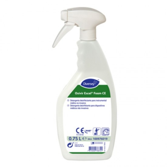 DETERGENTE DESINFECTANTE SUPERFICIES OXIVIR EXCELL FOAM 750ML (CAJA 6 BOTELLAS)