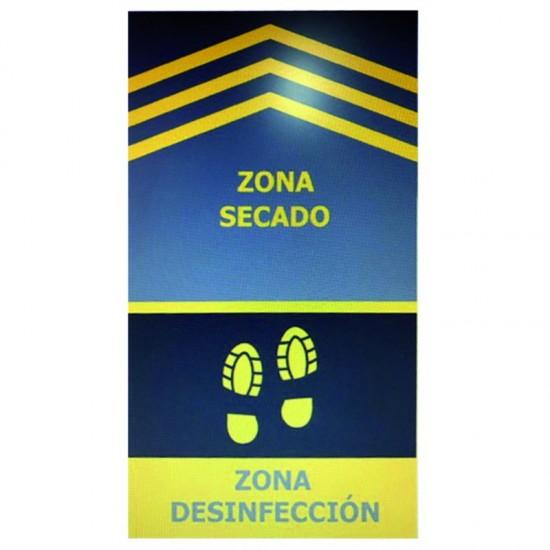 ALFOMBRA DESINFECTANTE CON IMPRESIÓN DE ZONA SECADO Y DESINFECCIÓN MEDIDAS 0